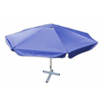 Slunečník s klikou Garth - modrý, 4 m