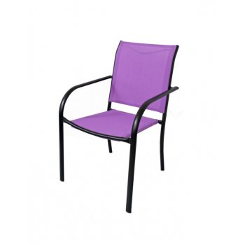 Zahradní kovové křeslo fialové