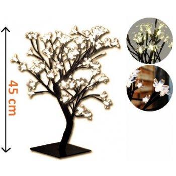 Dekorativní LED osvětlení - strom s květy, teple bílé