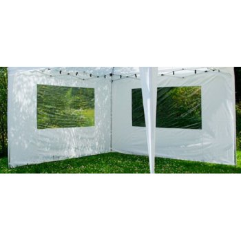 Sada 2 bočních stěn pro zahradní skládací altán 3 x 3 m - bílá D01111
