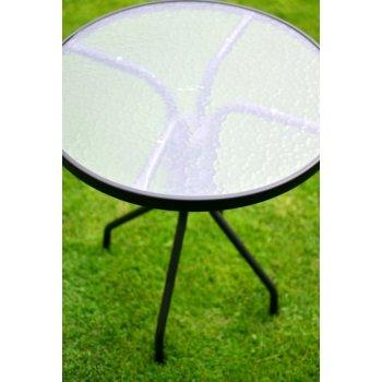 Zahradní stůl se skleněnou deskou ZWT-03 o 60cm