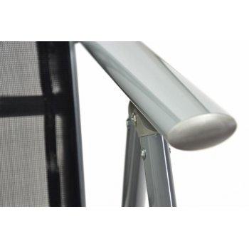 Hliníková skládací židle Garth - černá
