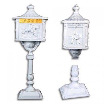 Ozdobná poštovní schránka - bílá