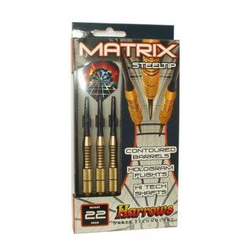 Šipky s kovovým hrotem HARROWS STEEL MATRIX 22g