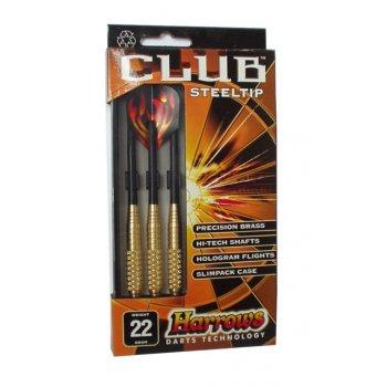 Šipky s kovovým hrotem HARROWS STEEL CLUB 18g