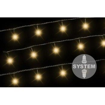 diLED světelný řetěz - 100 LED teple bílá