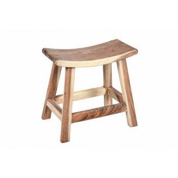 Stolička DIVERO z masivního SUAR dřeva