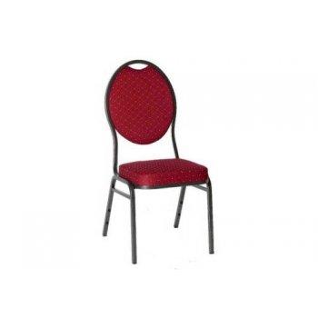 Kongresová židle kovová HERMAN - červená
