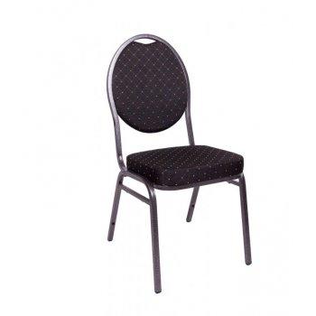 Kongresová židle kovová HERMAN- černá
