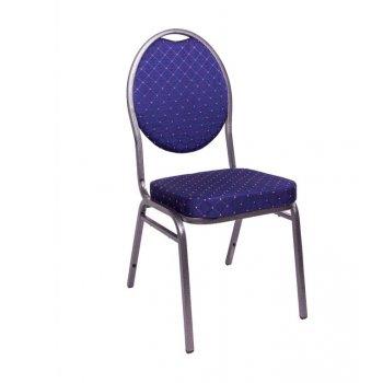 Kongresová židle kovová HERMAN- modrá