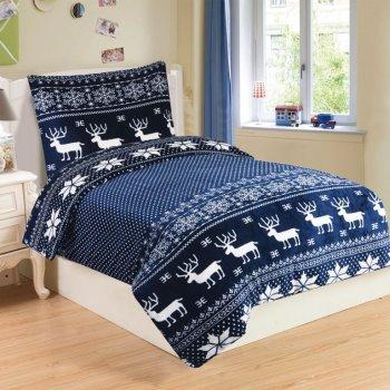 Mikroplyšové ložní prádlo SOB BLUE