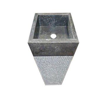 Volně stojící kamenné umyvadlo Pedestal square Garis Grey