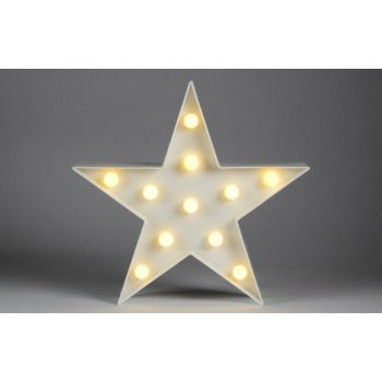 Vánoční dekorativní osvětlení - hvězda - 11 LED teple bílá