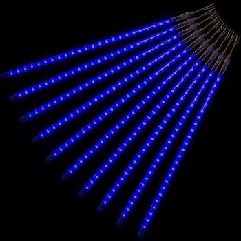 Vánoční LED osvětlení - padající sníh - 480 LED modrá