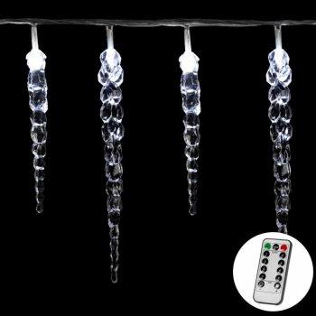 Vánoční dekorativní osvětlení - rampouchy - 40 LED studená bílá + ovladač