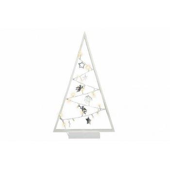 Bílá světelná vánoční dekorace - 20 LED, teple bílá