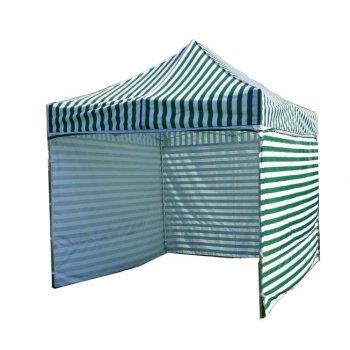Zahradní párty stan PROFI STEEL 3 x 3 m - zeleno-bílá