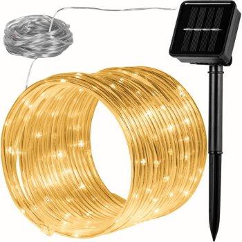 Solární světelná hadice - 100 LED, teple bílá