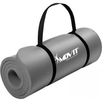 MOVIT Gymnastická podložka na jógu - 183 x 60 x 1 cm, šedá