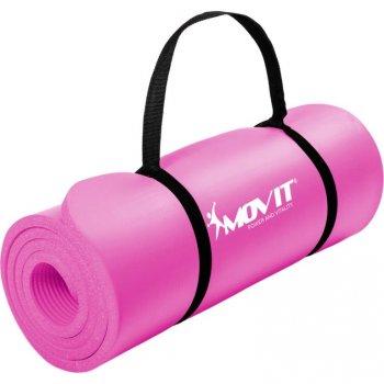 MOVIT Gymnastická podložka na jógu -183 x 60 x 1 cm, růžová