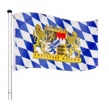 Vlajkový stožár vč. vlajky Bayern - 6,50 m