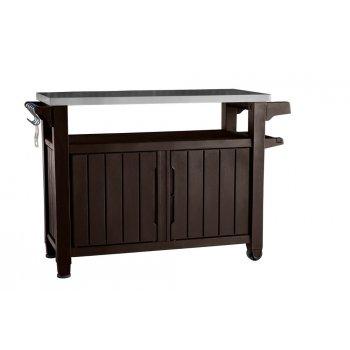 Zahradní stůl s úložným prostorem UNITY XL - hnědý