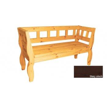 Zahradní RETRO lavice s povrchovou úpravou - 157 cm