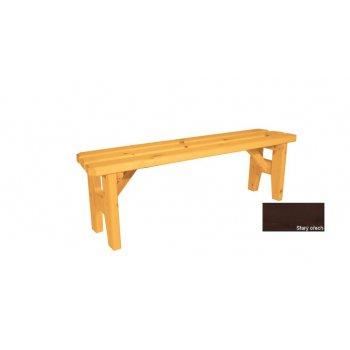 Zahradní dřevěná lavice  bez opěradla Eduard - s povrchovou úpravou - 150 cm - STARÝ OŘECH