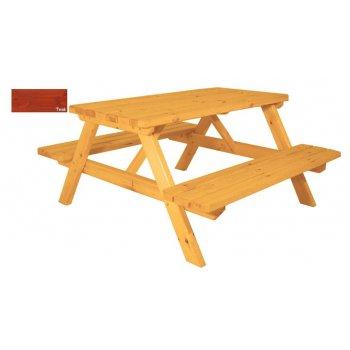 Zahradní set piknik - s povrchovou úpravou - 150 cm - TEAK
