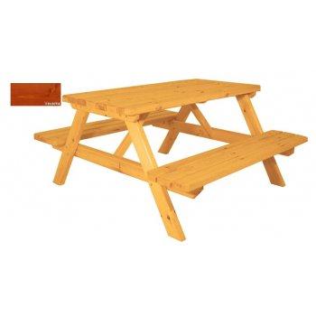 Zahradní set piknik - s povrchovou úpravou - 150 cm - VEVERKA