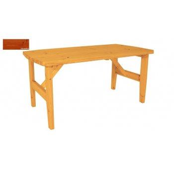 Zahradní dřevěný stůl Eduard - s povrchovou úpravou - 160 cm - VEVERKA