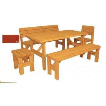 Zahradní dřevěný set Darina - s povrchovou úpravou - TEAK