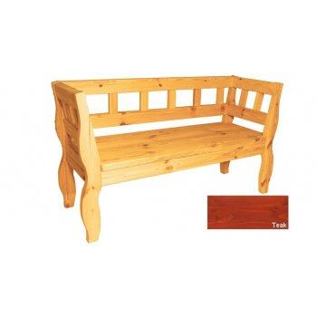 Zahradní RETRO lavice s povrchovou úpravou - 157 cm - TEAK