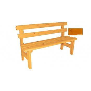 Zahradní dřevěná lavice Eduard - s povrchovou úpravou - 150 cm - BOROVICE