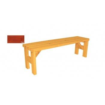 Zahradní dřevěná lavice bez opěradla Darina - s povrchovou úpravou - 150 cm - TEAK