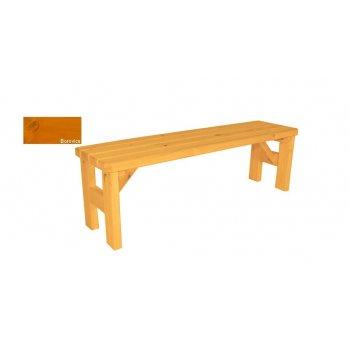 Zahradní dřevěná lavice bez opěradla Darina - s povrchovou úpravou - 150 cm - BOROVICE
