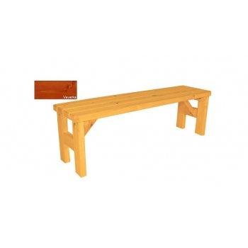 Zahradní dřevěná lavice bez opěradla Darina - s povrchovou úpravou - 150 cm - VEVERKA