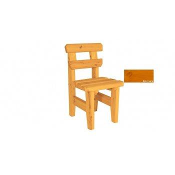 Zahradní dřevěná židle Eduard - s povrchovou úpravou - BOROVICE
