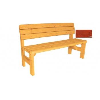 Zahradní dřevěná lavice s opěradlem Darina - s povrchovou úpravou - 150 cm - TEAK