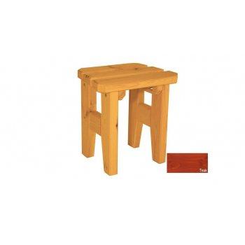 Zahradní dřevěná stolička Eduard - s povrchovou úpravou - TEAK