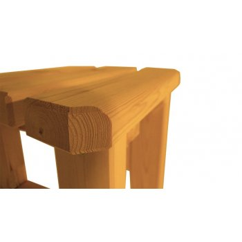 Zahradní dřevěná stolička Eduard - s povrchovou úpravou - BOROVICE
