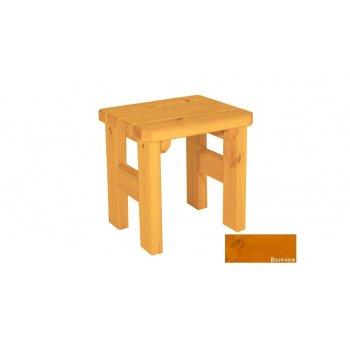 Zahradní dřevěná stolička Darina - s povrchovou úpravou - BOROVICE