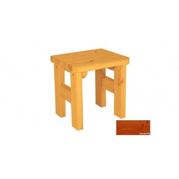 Zahradní dřevěná stolička Darina - s povrchovou úpravou - VEVERKA