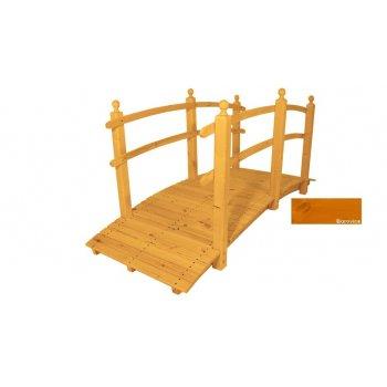 Zahradní dřevěný most s povrchovou úpravou - 248 cm - BOROVICE