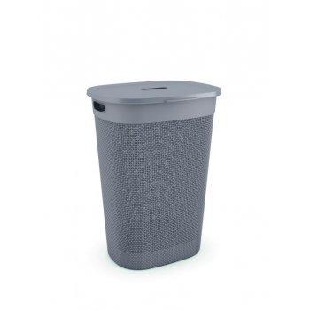 Plastový koš na prádlo FILO - hnědošedý
