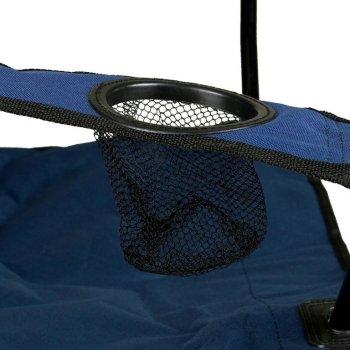 Sada 2 skládacích kempingových modrých židlí