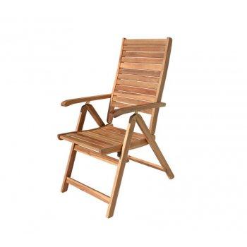 Dřevěné polohovací křeslo LEO