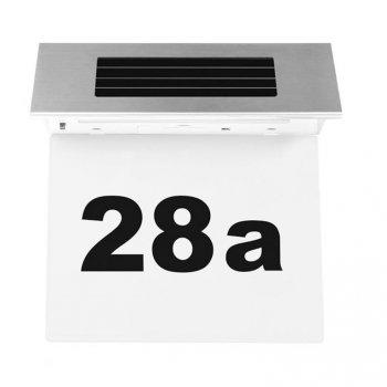 Solární zahradní domovní číslo s led osvětlením