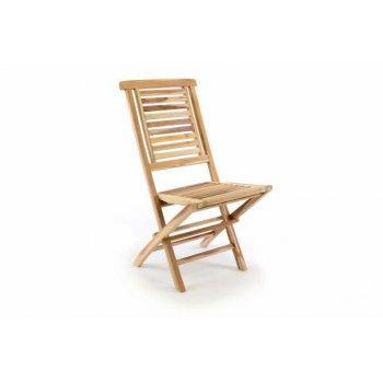 Zahradní židle skládací DIVERO Hantown z masivního týkového dřeva