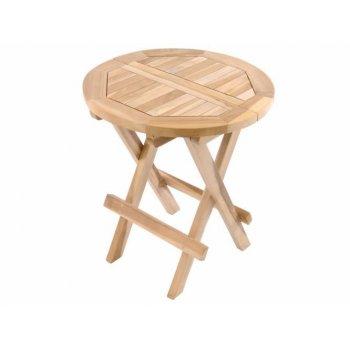 Zahradní odkládací stolek DIVERO z teakového dřeva